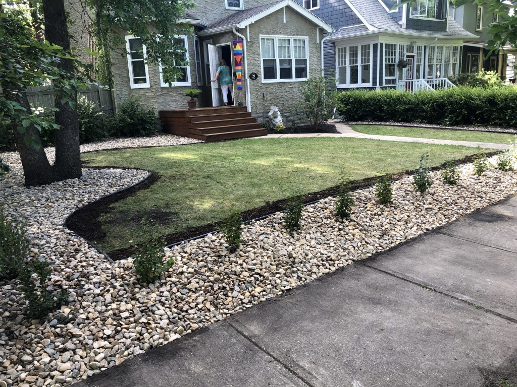Landscaping Rock Bed